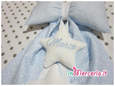 Fiocco nascita con stelline per Marco