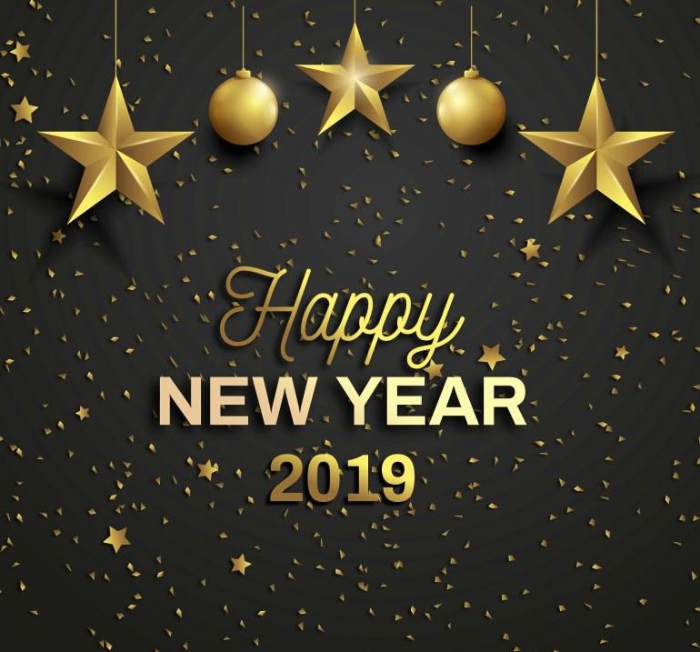 Buon anno! Felice 2019 a tutti.