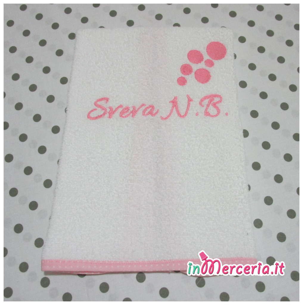 Asciugamani E Bavaglini Personalizzati.Set Asilo Bavette E Asciugamani Per Sveva Gift
