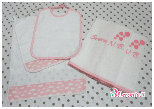 Set asilo - Bavette e asciugamani per Sveva