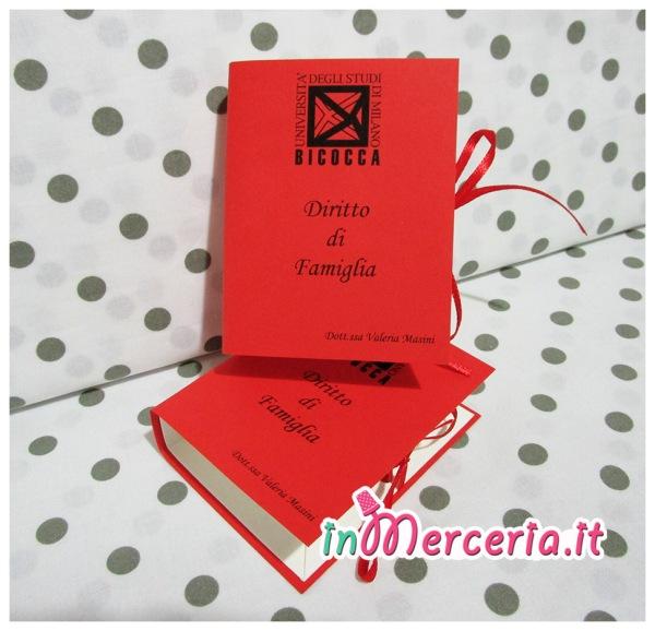 """Bomboniera portaconfetti a forma di libro per la Laurea della """"Dott.ssa Masini"""""""