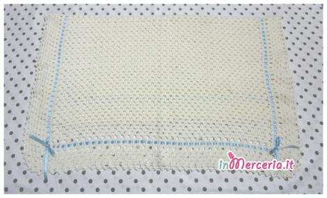 Copertina culla per neonato in lana