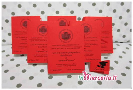 """Bomboniera portaconfetti a forma di libro per la Laurea in Giurisprudenza del """"Dott Puzzo"""""""
