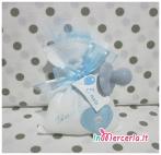 Sacchettino bomboniera portaconfetti con cuore e ciuccio per Giuseppe