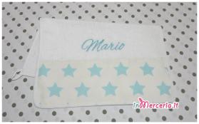 Set asilo - Asciugamano. tovaglietta e bavaglia per Mario