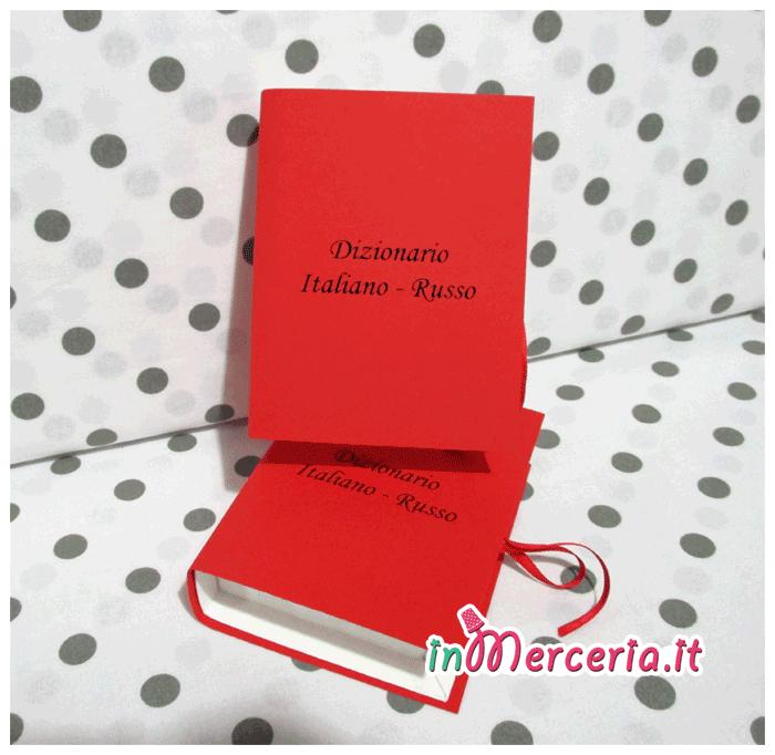 Bomboniera portaconfetti libro per la Laurea in Lingue e culture per l'editoria