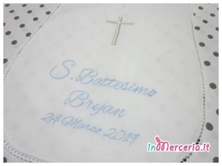 Camicina battesimo in cotone con croce per Bryan