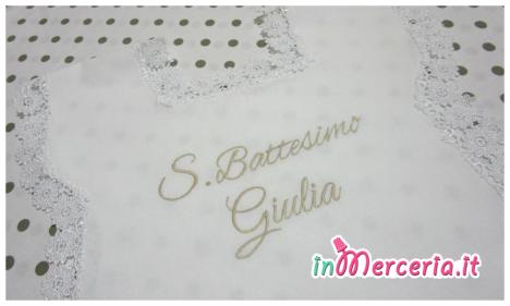 Camicina battesimo in cotone con margherite per Giulia