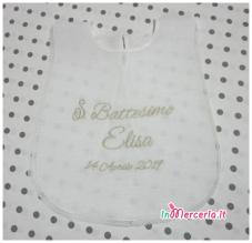 Camicina e asciugamano in lino per il Battesimo di Elisa