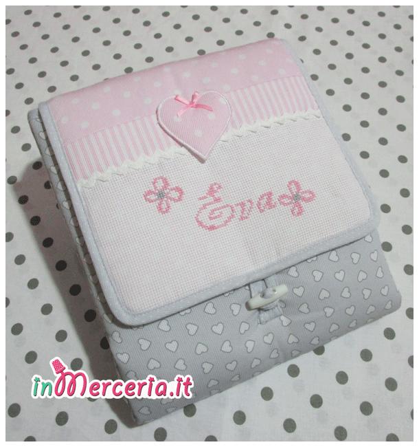 Fasciatoio da borsa Cuore rosa per Eva