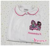 Grembiuli scuola e asilo LoL Surprise e Frozen personalizzati per Alessandra