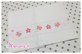 Set lenzuolino con farfalle e fiori