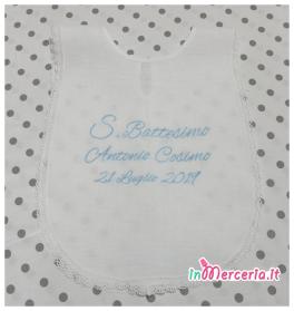 Camicina battesimo in lino per Antonio Cosimo