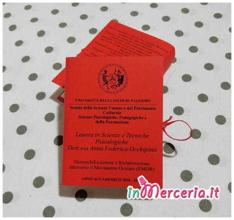 """Bomboniere portaconfetti libro per Laurea in Scienze e Tecniche Psicologiche della """"Dott.ssa Occhipinto"""""""