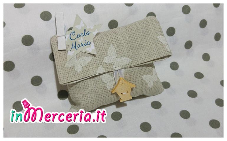 """Bustina bomboniera portaconfetti con stella per """"Carlo Maria"""""""