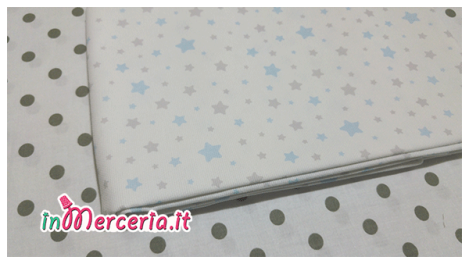 Set lenzuolino neonato con stelle e pois