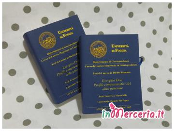 """Bomboniere portaconfetti libro per Laurea Magistrale in Giurisprdenza del """"Dott. Papeo"""""""
