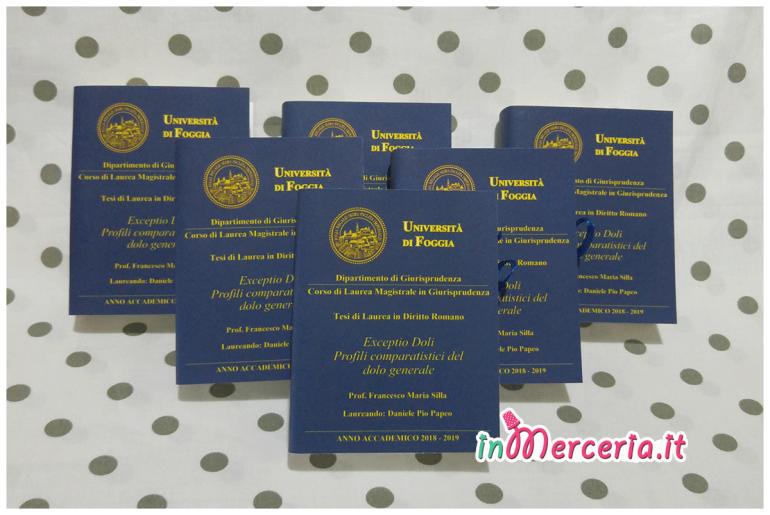 """Bomboniere portaconfetti libro per Laurea Magistrale in Giurisprudenza del """"Dott. Papeo"""""""