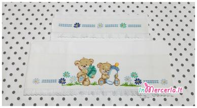 Set lenzuolino neonato con orsetti