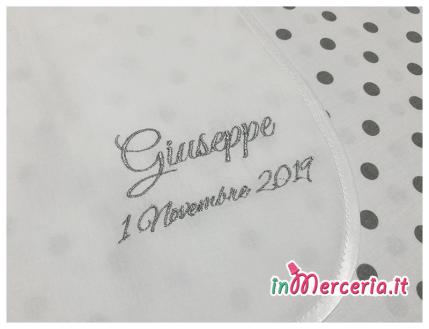 Camicina battesimo in cotone per Giuseppe