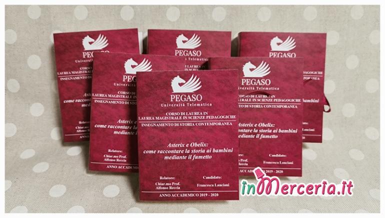 """Bomboniere portaconfetti libro per Laurea Magistrale in Scienze Pedagociche della """"Dott.ssa Lanciani"""""""