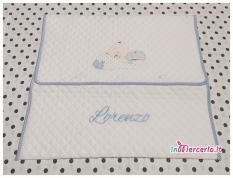 #Busta portaoggetti con #orsetto nanna e #sacchetto nascita e asilo con orsetto stellina per #Lorenzo Acquistali sul nostro sito #inMerceria ➡ www.inmerceria.it