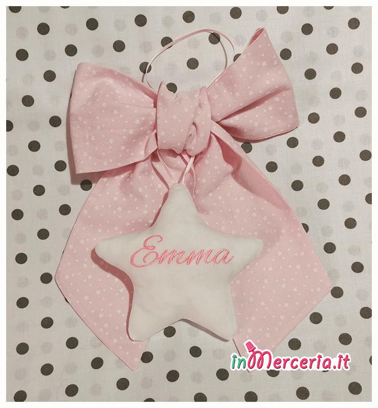 Fiocchi nascita con stelle per Emma