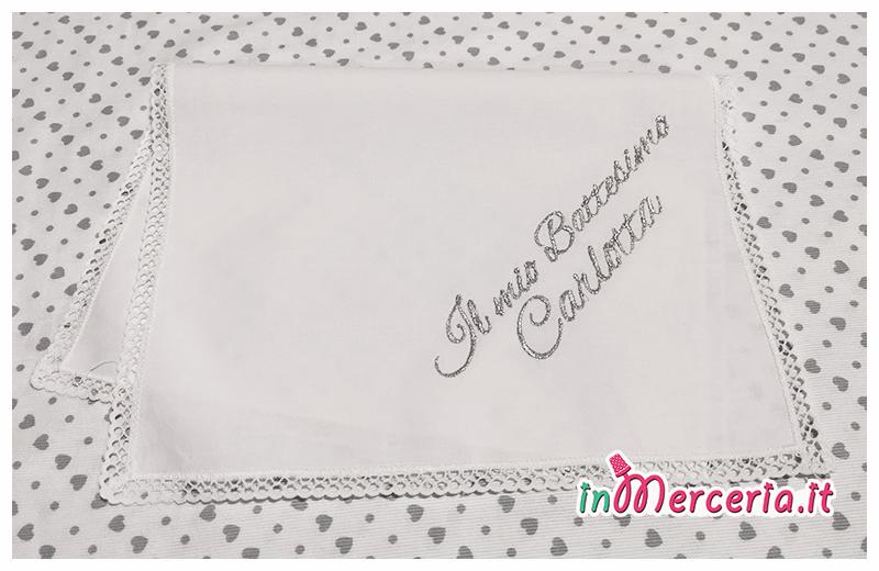 Asciugamano in cotone Il mio battesimo Camilla e Carlotta