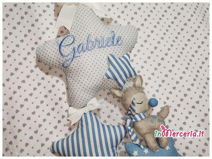 Fiocco nascita stelle con cerbiatto per Gabriele