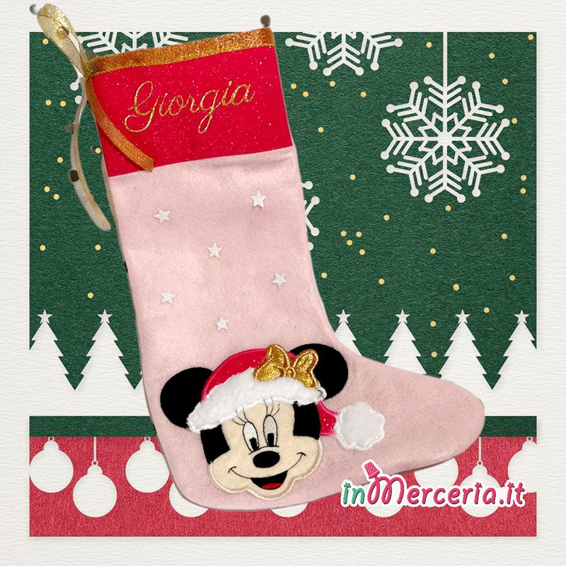 Calza della befana con Minnie Mouse