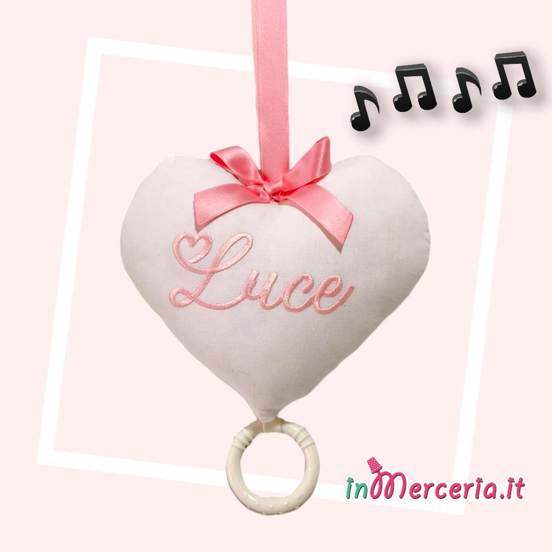 Carillon cuore con nome per Luce